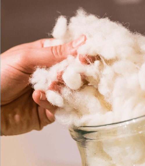 Natural wool insulation for R value of wool
