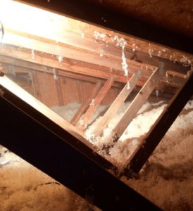 Natural Wool Isulation Installed on Attic